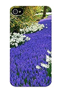 Improviselike Perfect Tpu Case For Iphone 4/4s/ Anti-scratch Protector Case (flower Bed In The Park )