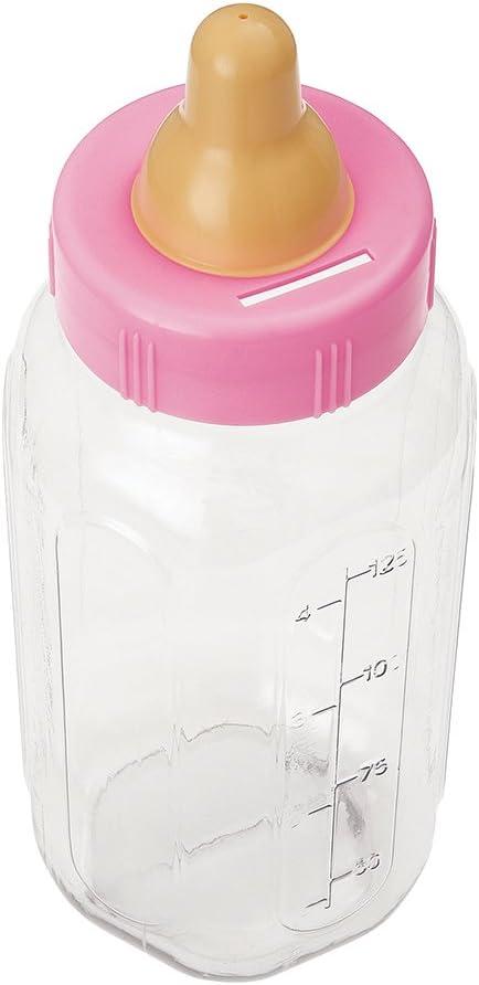 Unique Industries Plastic Pink Bottle Bank Baby Shower Decoration, 11