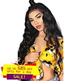 Miss GAGA Brazilian Body Wave 9A Human Hair Lace Front Wigs For Black Women 130% Density 100% Unprocessed Virgin Human Hair Wig Pre Plucked with Baby Hair(body lace wig 22inch)