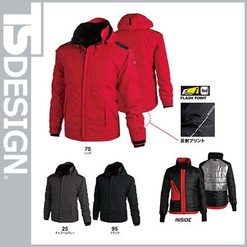 メガヒート防水防寒ジャケット カラー:75_レッド サイズ:L B075CQTFFG L 75_レッド 75_レッド L