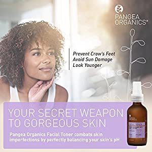 Pangea Organics Facial Toner | French Rosemary with Sweet Orange | Filled with Essential Oils & Botanicals | Ideal for Dry to Sensitive Skin | 2 & 4 oz. Skin Care Toner
