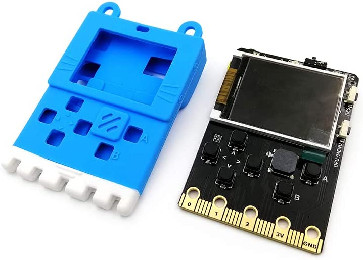 Kittenbot Meowbit Card-Sized Retro Computer Video Game Console Codable Console for Microsoft Makecode Arcade /& Python Compatible with Micro:bit Expansion Board for Building Robot Meowbit Pack-Blue