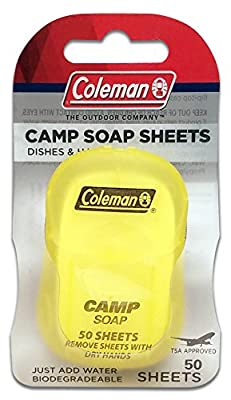 Coleman Dish and Hands Camping Soap, Biodegradable - 50 sheets