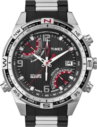 (Timex Men's T49868 Intelligent Quartz Fly Back Chrono Compass Stainless Steel Bracelet Watch)