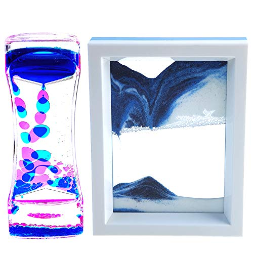 FKYTION Liquid Motion Bubbler Timer and Moving Sand