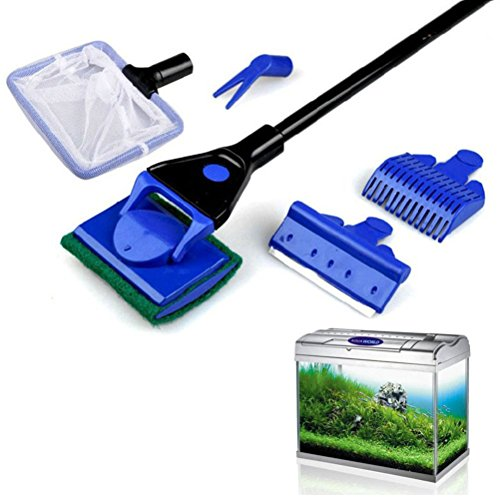 Aquarium cleaner winomo aquarium fish glass tank 5 in 1 for Fish tank cleaning kit