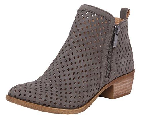 Lucky Brand Women's Basel Bootie,Dark Stone Nubuck,US 7.5 - Brand Warehouse