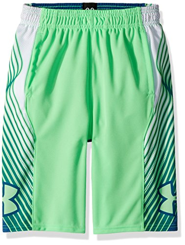Under Armour Boys Space The Floor Shorts, Arena Green (701)/Arena Green, Youth Medium
