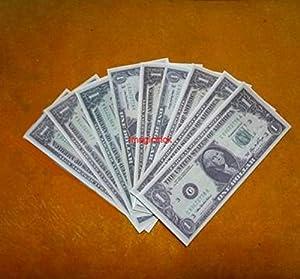 9 sheets $1 US dollar flash bill - Magic Trick / Fire Magic Tricks