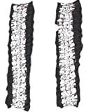 Roaring 20's – Wild West - Victorian Garters Armbands – Silver and Black Satin