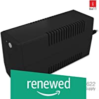 (Renewed) iBall Nirantar UPS 622 - Uninterrupted Power Supply to Your Personal Computers, Home Entertainment Network and Gaming Consoles, Black