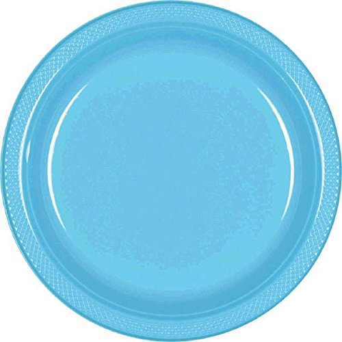 Amscan 43030.54 Party Plates Tableware Items, 20 Pieces, Blue ()