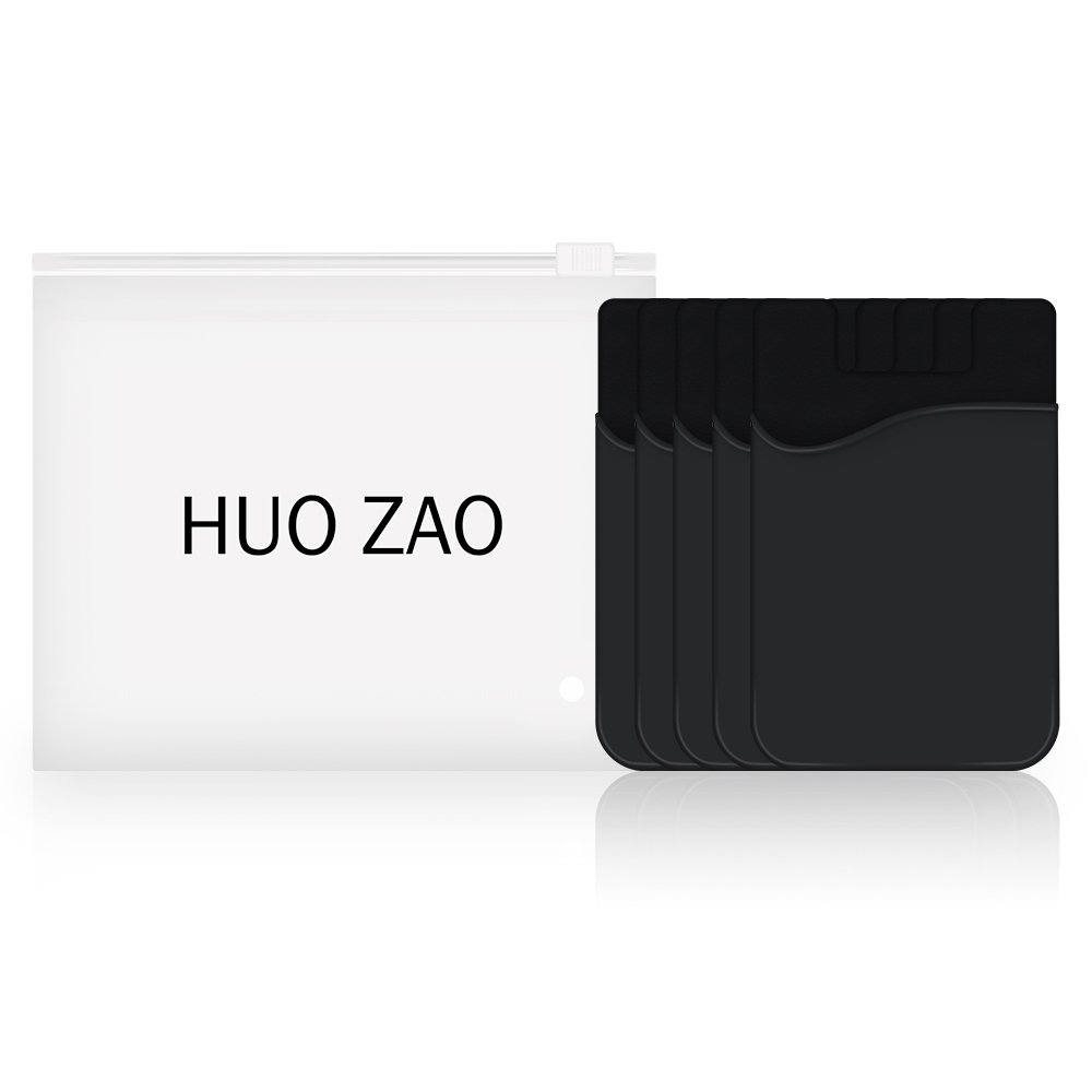Silicone Credit Card Id Holder with Adhesive Stick-on Fits Apple iPhone iPad Samsung Galaxy Android Smartphones Door Table Mixed Colors 10 Piece Refrigerator HUO ZAO cc009 Cell Phone Wallet