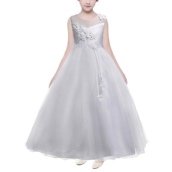 801726e8f8c HUANQIUE Robe Fille Princesse Mariage Fille d honneur Élégantes Soirée 6  Couleur 5-16