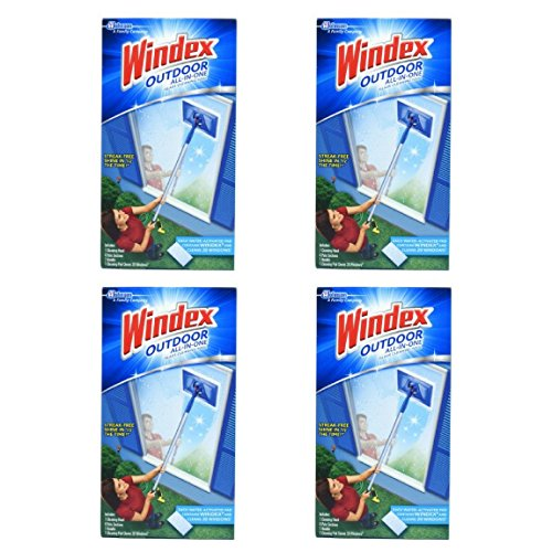 Windex Outdoor All-In-One Glass Cleaning Tool - 4 Packs by Windex