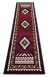 Kingdom South West Native American Rug Burgundy Design #143 (2 Feet X 7 Feet) Runner