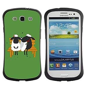 """Pulsar iFace Series Tpu silicona Carcasa Funda Case para SAMSUNG Galaxy S3 III / i9300 / i747 , El amor de San Valentín Pareja Banco Verde"""""""