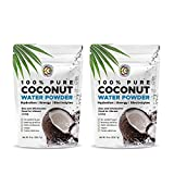 Earth Circle Organics | Pure Young Dried Coconut Water Powder | Hydration | Energy and Electrolyte Supplement | No Additives | Unsweetened | Natural Keto Water Enhancer | Vegan | Gluten Free (2 Pack)