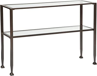 Amazon Com Southern Enterprises Glass Media Console Table