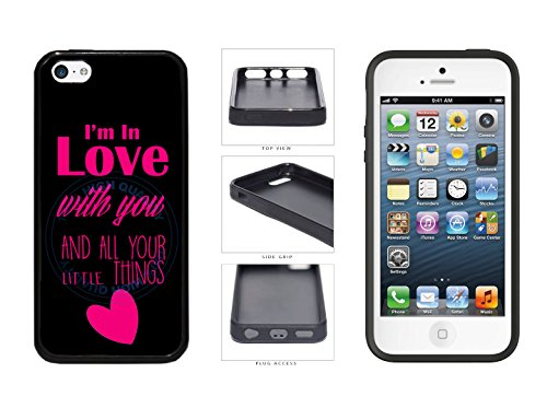 I'm In Love With You And All Your Little Things - Plastic Phone Case Back Cover (iPhone 5c) comes with Security Tag and MyPhone Designs(TM) Cleaning Cloth