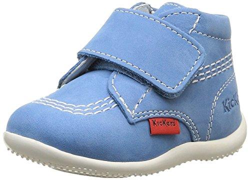 Kickers Bilou - Zapatos de primeros pasos Bebé-Niños Azul
