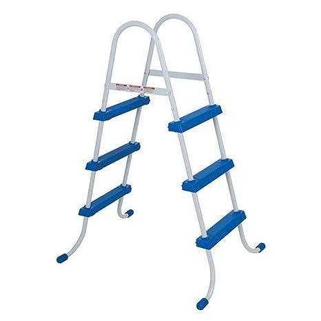 Intex 28062 - Escalera para Piscina (122 cm, Acero Inoxidable, Tres peldaños)