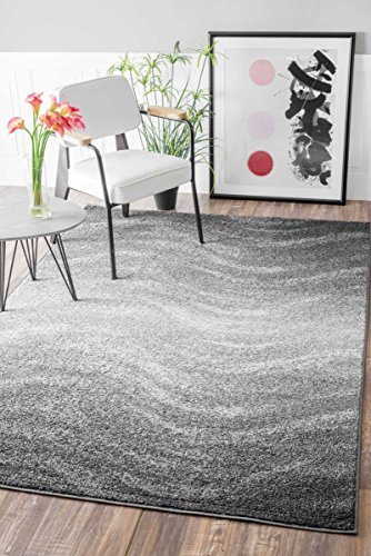 nuLOOM Contemporary Ombre Waves Polypropylene Rug, 5' x 8'