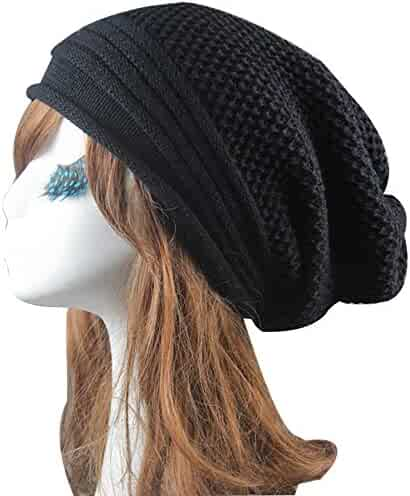 3b3be671b6ac5 Unisex Men Women Baggy Warm Crochet Winter Wool Knitted Hat Ski Beanie  Skull Slouchy Caps