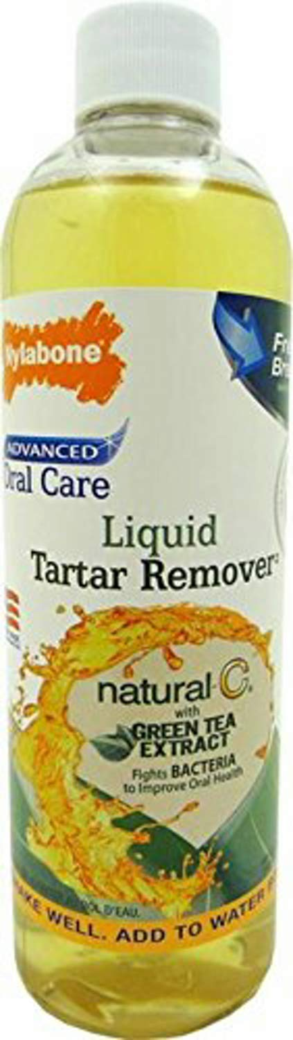 Nylabone Natural Liquid Tartar Remover, Advanced Oral Care, 12 Ounce, 4 Pack