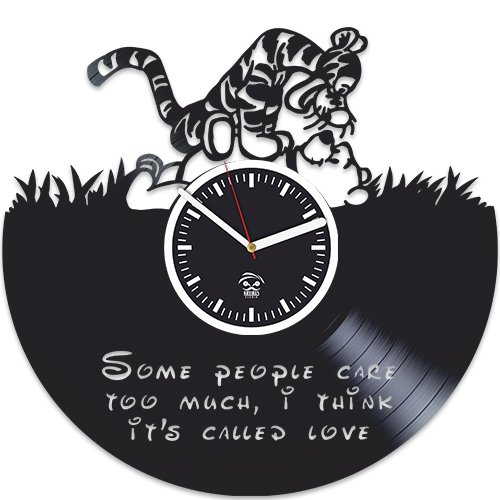 Winnie The Pooh Vinyl Clock, Tiger Gift, Cartoon Disney, Vinyl Wall Clock, Best Gift for Kids, Vinyl Record Clock, Kovides, Birthday Gift For Kids, Silent Mechanism, Wall Clock Modern (Disney Clocks Wall)