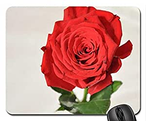 Red Rose Mouse Pad, Mousepad (Flowers Mouse Pad, Watercolor style) by runtopwell