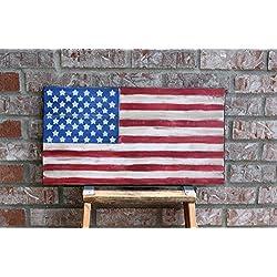 Wood American flag, Rustic Flag, Veteran's Day, Pallet American Flag