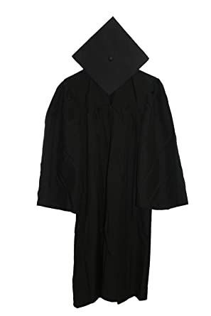 Amazon.com: Economy Cap and Gown Matte Finish Cap and Gown 4'9-4 ...