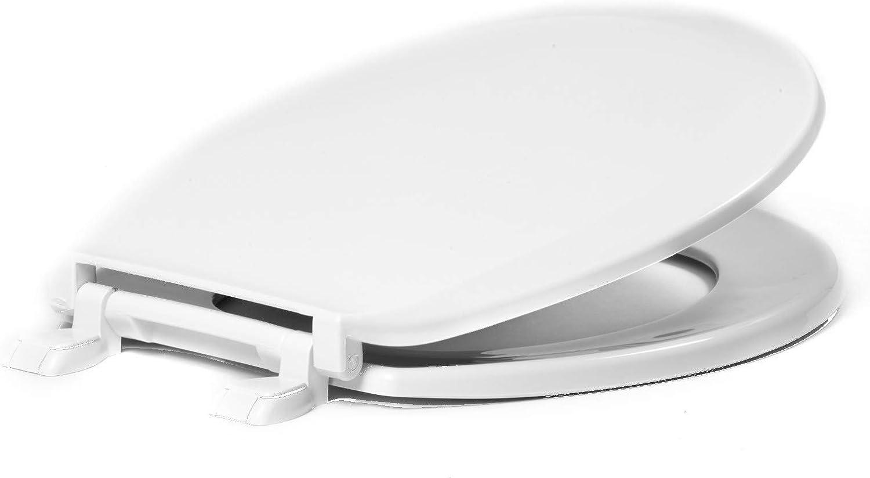 Centoco 1200-001 Round Plastic Toilet Seat, Standard Economy Model, Light Weight Residential, White