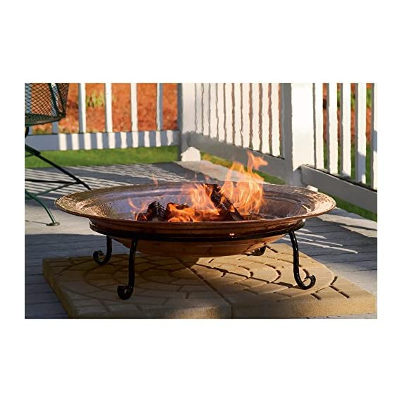 Good Directions 771 Medium Copper Fire Pit - Hand hammered copper Deep copper basin cradle wood or coal for a capitvating blaze Bring warmth and comfort to backyard, beach or patio - patio, outdoor-decor, fire-pits-outdoor-fireplaces - 51CPdAR9mJL. SS570  -