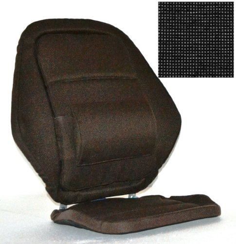 Deluxe Back Rest Finish: Charcoal by McCarty's
