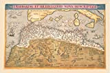 Nautical Map Of Northern Africa Print 20'' X 30''