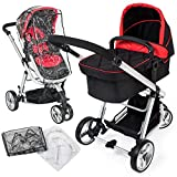 TecTake 3 in 1 Pushchair stroller combi stroller buggy baby jogger travel buggy kid's stroller...