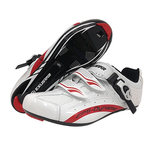 Exustar E-SR403 Road Shoe, White, 9.5 by Exustar