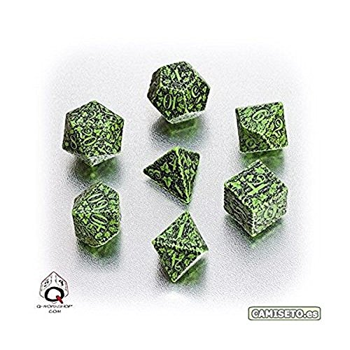 Forest Dice Set Green Black product image