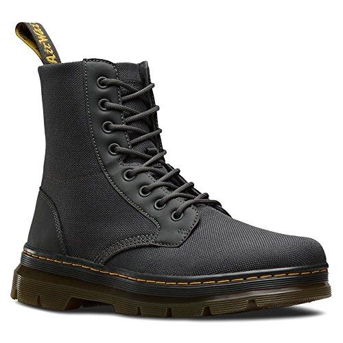 Dr Nylon unisex para Cordura Martens zapatos Combs fuerte para Rubbery extra Rubbery Carbón adultos barcos Black TTq6Srfxn