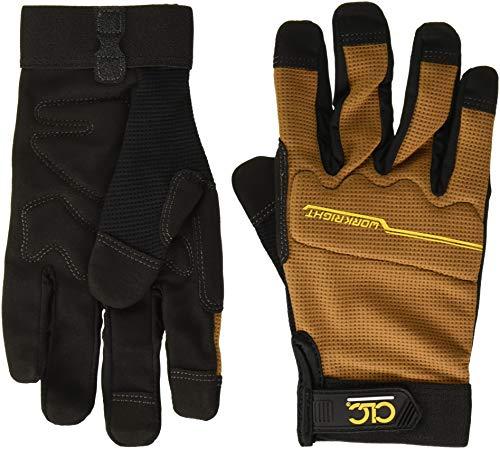CLC Custom Leathercraft 124M Workright Flex Grip Work Gloves, Shrink Resistant, Improved Dexterity, Tough, Stretchable, Excellent Grip