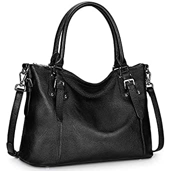 94b636883d9f Amazon.com: S-ZONE Women's Vintage Genuine Leather Handbag Work Tote ...