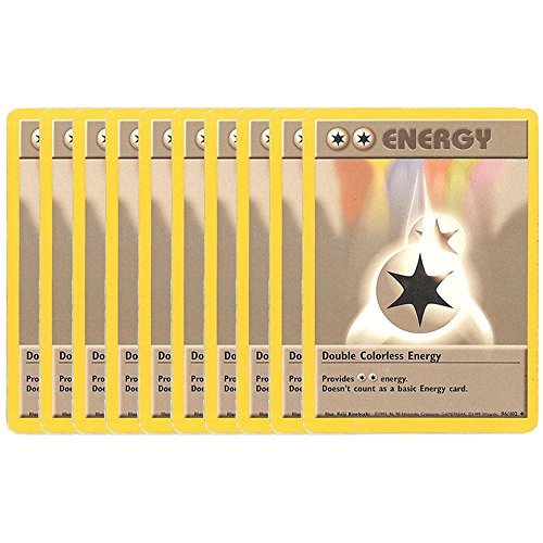 Pokemon Cards - LOT OF 10 DOUBLE COLORLESS ENERGY Cards