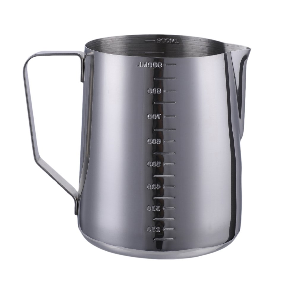 AIHOME Handheld Stainless Steel Milk Frothing Suitable for Coffee,Frothing Milk Available in 350ml, 600ml & 900ml