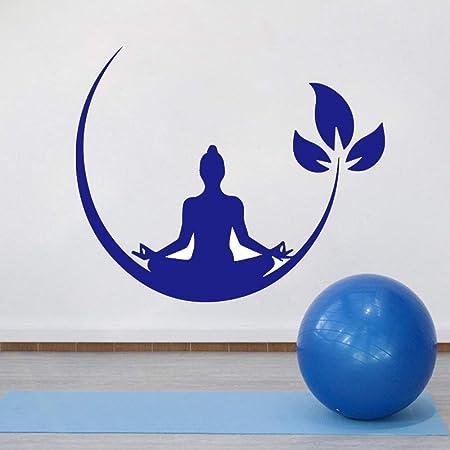 jiuyaomai Yoga Meditación Vinilo Pegatinas de Pared Zen ...