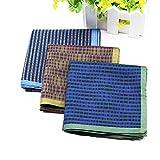 3 Colors-Mens Cotton Handkerchiefs Pack
