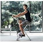 Cyclette-Sportiva-Spin-Bike-Magnetiche-Pedaliera-Piegatore-Fisso-Dellinterno-Verticale-Attrezzature-per-Il-Fitness-Muto-Bianco-Display-LCD-Valore-Purple