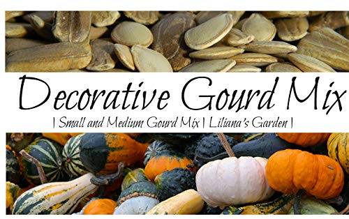 Gourd Seeds - Decorative Mix - Small and Medium Varieties - Booklet Included - Liliana's -
