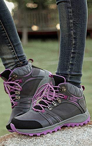 Escalada Zapatos Forrado Mujer Excursionismo Gris Senderismo Ante Insun De Terciopelo Calzado Para Alpinismo Zapatillas 5wXxqnHnRZ